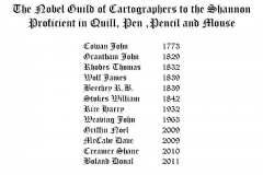 List of Carotgraphers 1773 to 2011