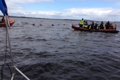 Rescue services at work on Lough Ree @ P McManus